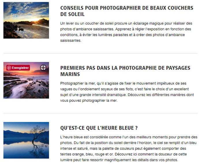 10 tutoriels photo sur le site Nikon France