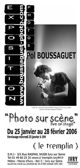 Pol Boussaguet expo photo Ivry sur Seine