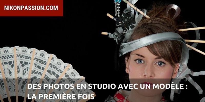 Photos en studio avec modèle : la première fois