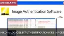 Logiciel d'authentification d'images Nikon