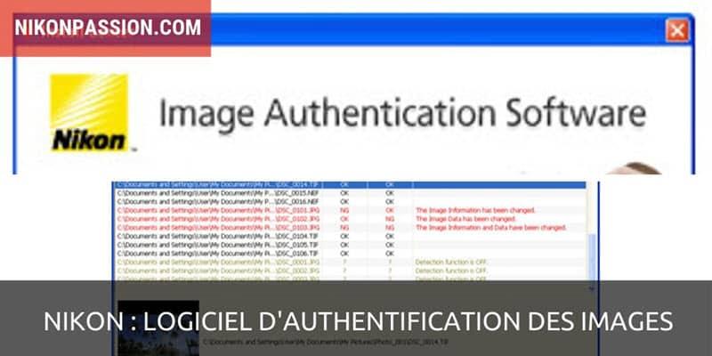 Logiciel authentification d'images Nikon