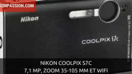 Nikon Coolpix S7c : 7,1 Mp, zoom 35-105 mm et wifi