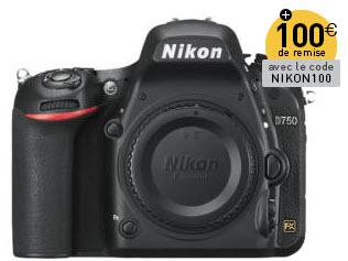 Promotion Nikon Miss Numerique  Nikon D750