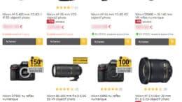 Promotions Nikon chez Miss Numerique