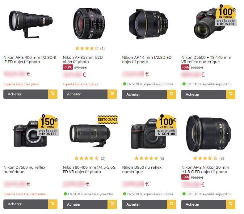Promotions Nikon Miss Numerique : un service pro en ligne