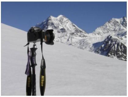 Comment fabriquer un monopode à rotule avec un baton de ski