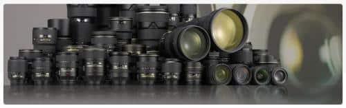 tous les objectifs Nikon différents modèles