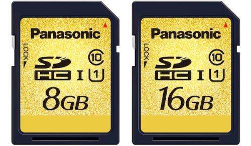 cartes mémoires panasonic SD UHS-I 8 et 16 Gb