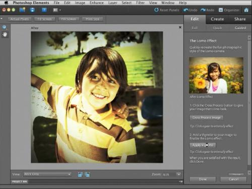 retouche de photo Adobe Photoshop Elements 9