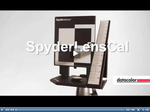 Utilisation du SpyderlensCal vidéo