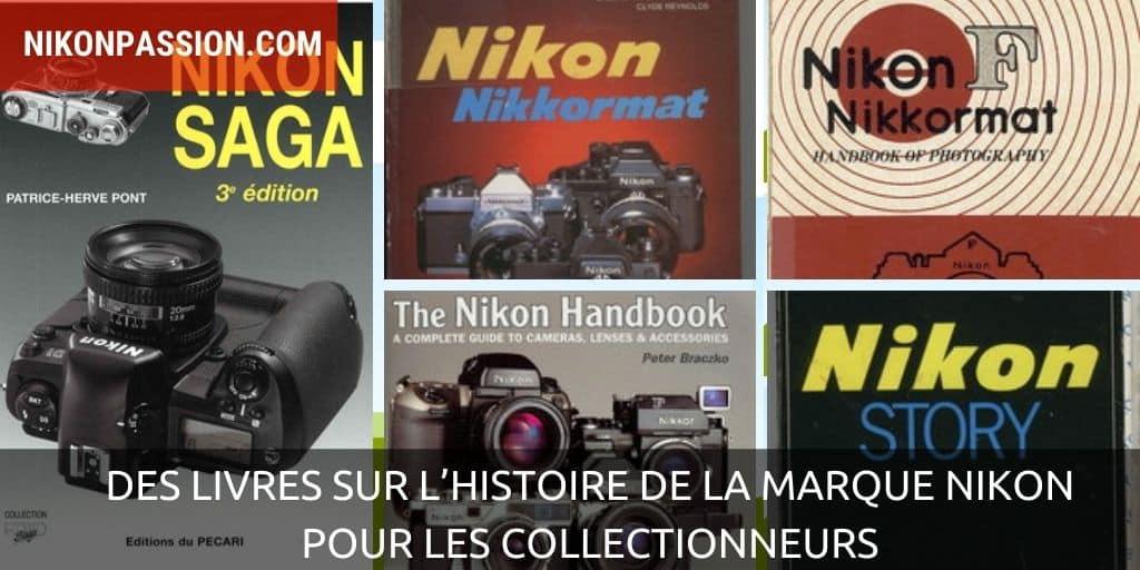 Des livres sur l'histoire de la marque Nikon pour les collectionneurs