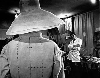 Pierre Boulat.  Yves Saint Laurent, Paris, 1962