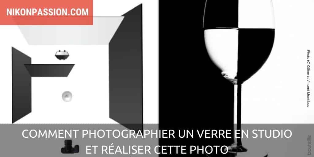 Comment photographier un verre en studio avec effet noir et blanc