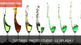 Tutoriel photo studio : comment faire jaillir un liquide de plusieurs verre, le splash !