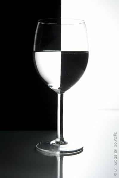 Tutoriel photo de studio le verre noir et blanc