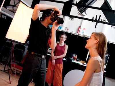 Formation photo portrait en studio avec modele