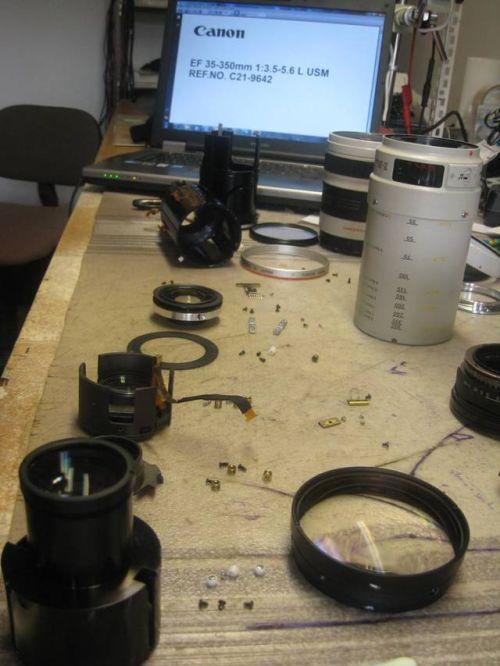 où comment faire réparer un objectif photo