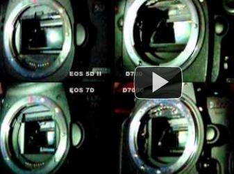 Comparaison obturateurs Nikon et Canon