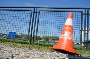 cone de travaux posé au sol vitry sur seine