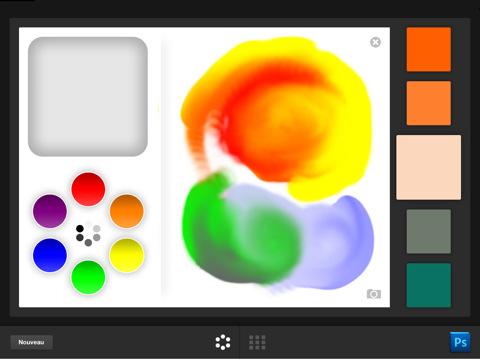 copie d'écran d'Adobe Color Lava pour iPad