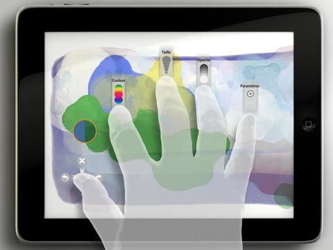 copie d'écran d'Adobe Eazel pour iPad