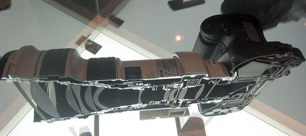 Canon EOS 1Ds et 400mm f/4 coupés en deux
