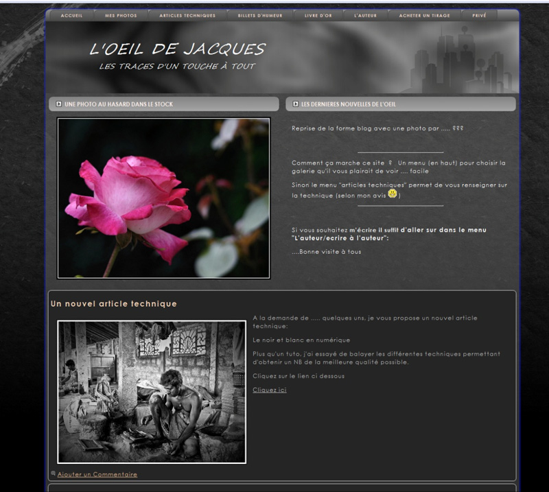 comment faire son site photo