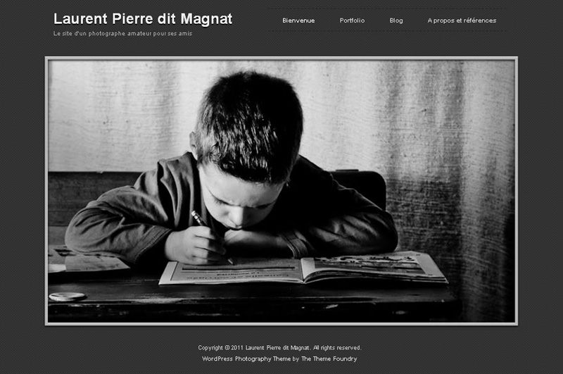 exemple de site photo fait avec WordPress