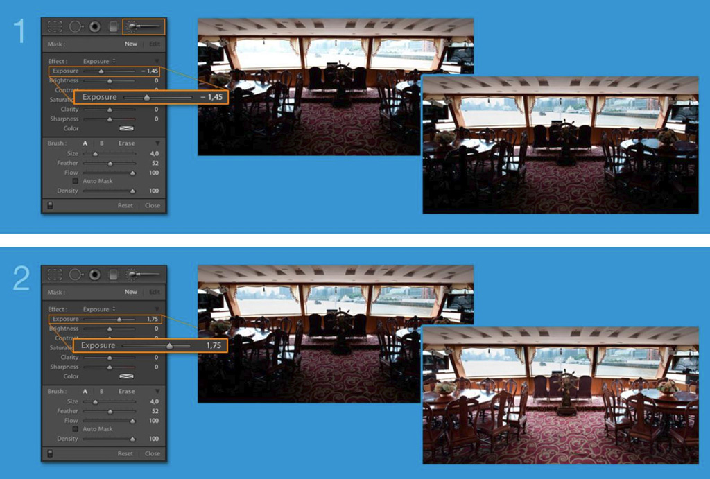 donner un effet HDR avec les réglages éclairer et assombrir de Lightroom
