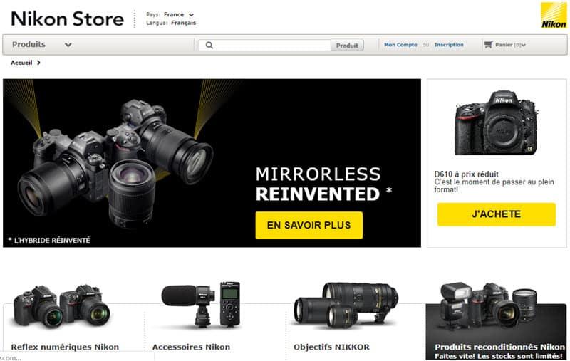 Site Nikon Store : appareils photo et objectifs Nikon neufs et reconditionnés, offres spéciales, promotions