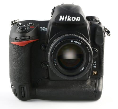 vue de face du Nikon D3X