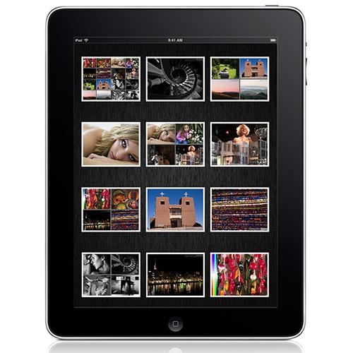ecran de l'ipad utilisé pour voir une galerie photo