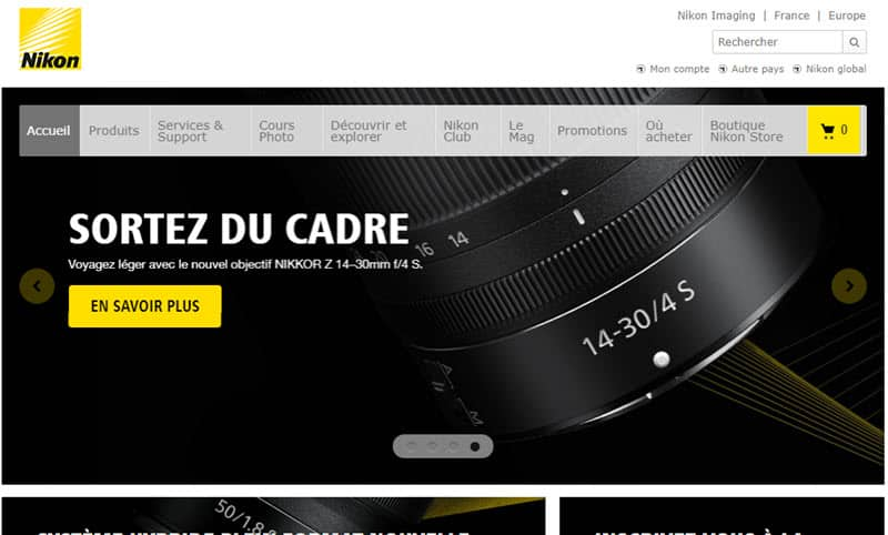 Tous les sites Nikon France