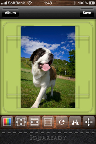 Application gratuite iPhone photo Squaready