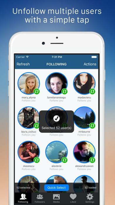 Application Cleaner pour Instagram - 10 applications pour Instagram pour les photographes
