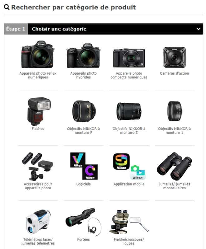 Téléchargements pour appareils photo Nikon