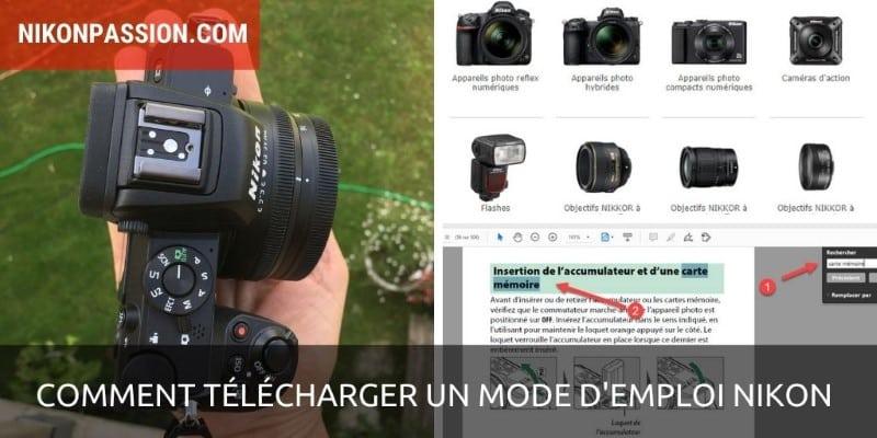 Comment télécharger un mode d'emploi Nikon ?