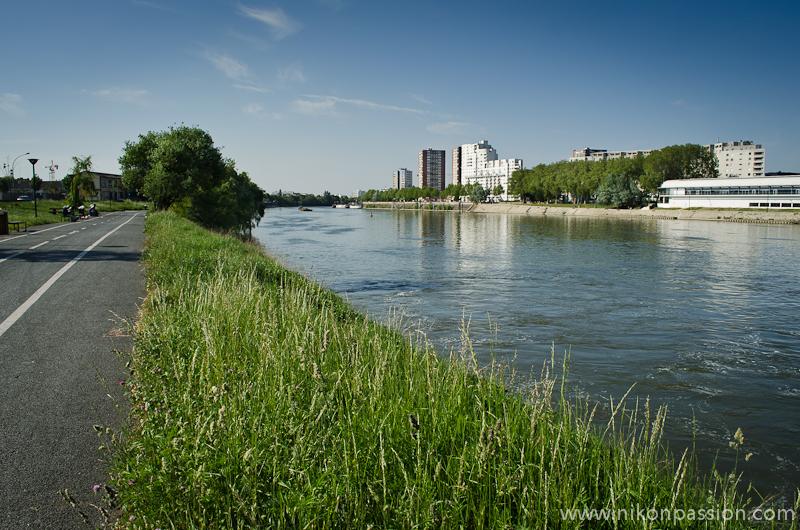 paysage quai de seine à Vitry