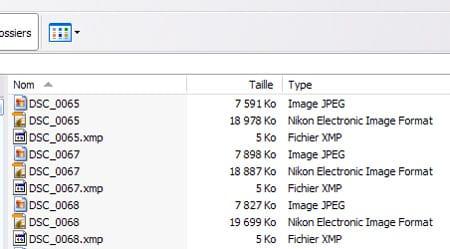 format de fichier RAW