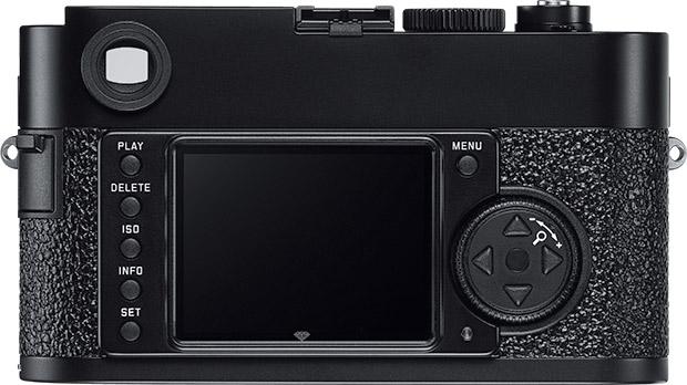 vue de dos du Leica M9-P noir