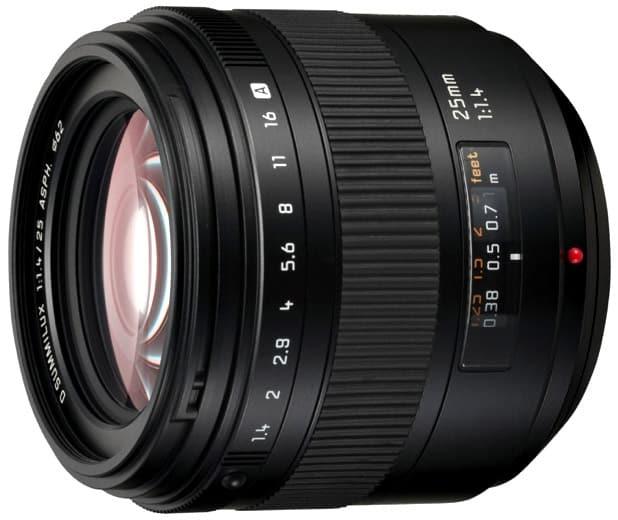 vue de l'objectif leica 25mm Summilux pour Panasonic Lumix
