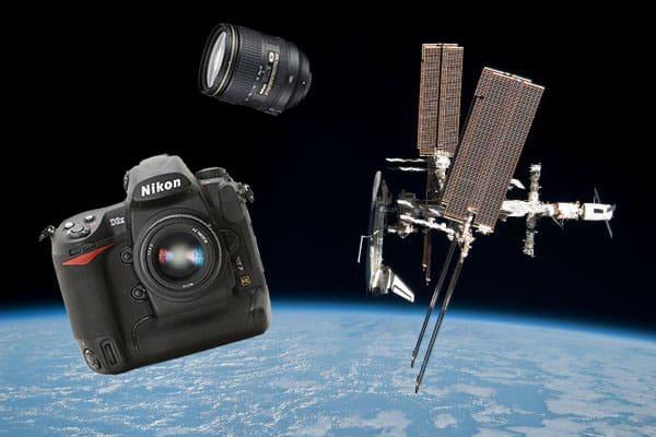 le Nikon D3x et le Nikkor 24-120mm utilisés par la NASA avec Endeavour
