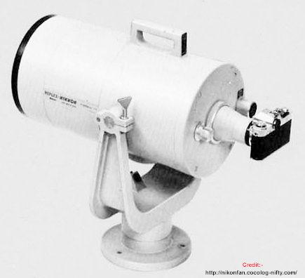 vue de l'objectif Nikon 2000mm f/11 prototype