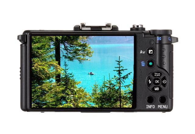 écran arrière LCD du Pentax Q