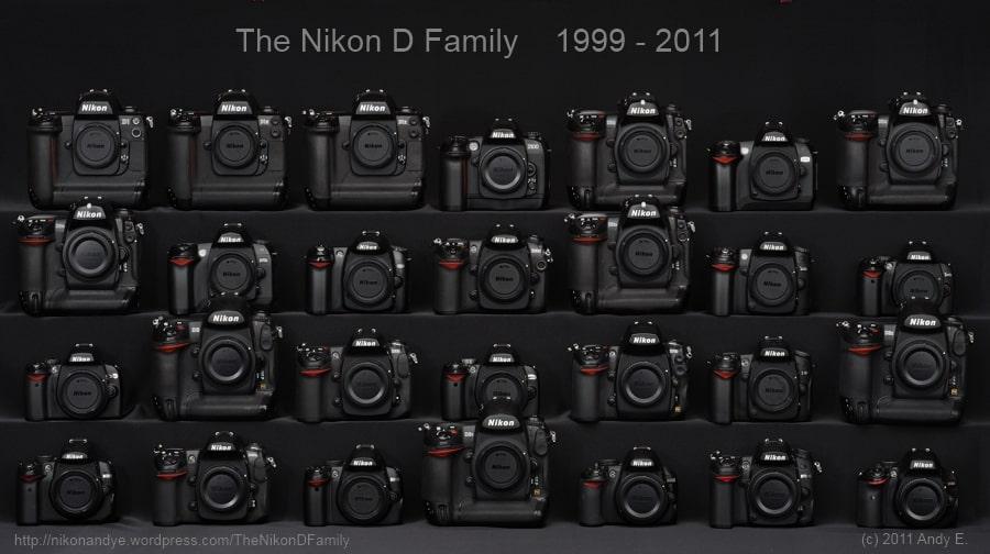 tous les modeles Nikon numeriques