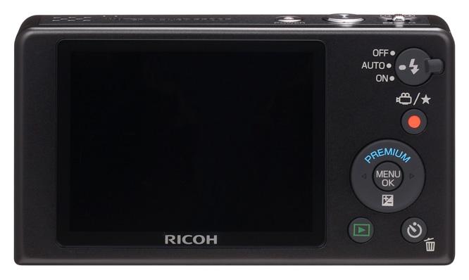vue de dos du compact numérique Ricoh PX