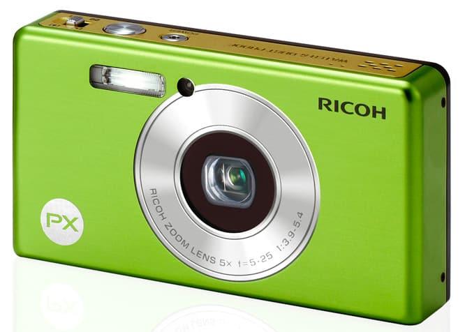 vue de face du compact numérique Ricoh PX