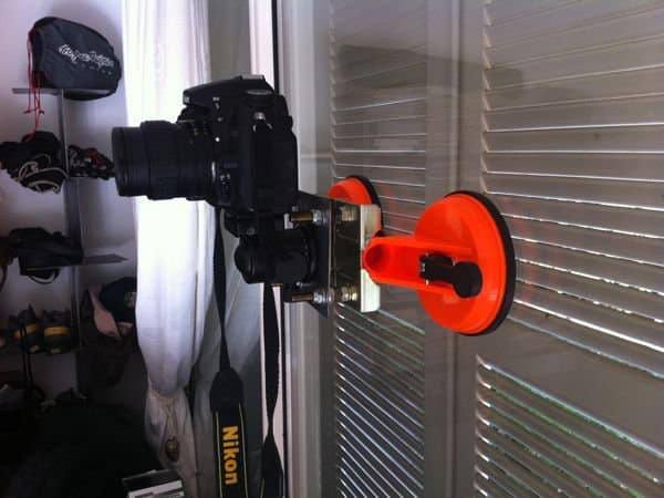 support à ventouses DIY pour reflex numérique