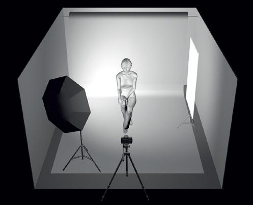 exemple de plan d'éclairage en studio pour le portrait