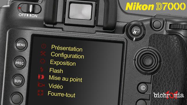 menu de la formation vidéo DVD sur le Nikon D7000 par Claude Tauleigne